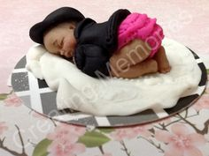 Fondant Baby with Leather Jacket cake Topper by anafeke on Etsy, $15.00