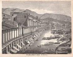 La Palazzata in una stampa del XIX secolo Messina, Painting, Art, Fotografia, Art Background, Painting Art, Paintings, Kunst, Drawings