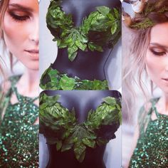 Eve Bra (with straps): rave wear, festival, edm, rave bra, halloween, costume, poison ivy, leaf, fairy, raver by RichMahoganyLife on Etsy https://www.etsy.com/listing/241734800/eve-bra-with-straps-rave-wear-festival