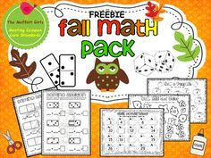 Fall Math Pack FREEBIE! This Fall Math Pack FREEBIE meets many common core standards while making math FUN! This pack includes: -Domino Addition Sheet -Blank Domino Addition Sheet -Large Domino Die to Cut and Roll -Roll a Pumpkin -Roll, Add and Color Fall Leaf Page -What Comes Next Pumpkin Numbers -1-20 Cut, Paste and Trace -10-100 Cut Paste and Trace (count by 10's) Be sure to visit The Moffatt Girls Blog for more educational resources and ideas! **If you download this product and like it…