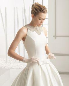 Kleid aus bestickter Mikado-Seide von Rosa Clará. #weddingdress #gown #Brautkleid #wedding #hochzeit #Brautkleider2016