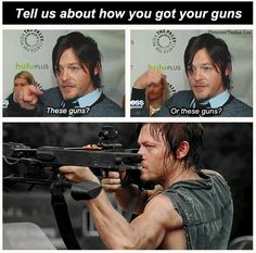 Norman Reedus - Daryl Dixon - The Walking Dead cast Walking Dead Funny, Fear The Walking Dead, Walking Dead Cast, Z Nation, The Walk Dead, Darryl Dixon, Daryl Dies, Twd Memes, Memes Humor