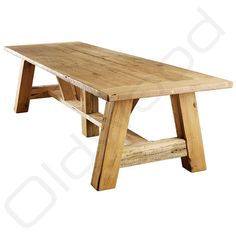 At Oldwood you will find robust wooden tables such as the old oak table Vienna, the robust table has a unique design that fits into many themes.