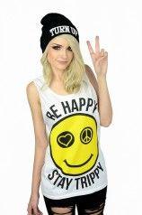 Be Happy Stay Trippy Tank - Womens