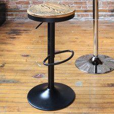 Dakota Adjustable Height Swivel Bar Stool