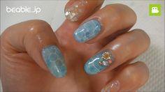 簡単セルフネイル~ドロップアート~「ジェルで水面ネイル」のやり方【ビエボ】   ネイルアート
