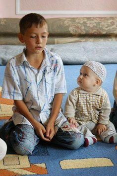 Muslim Boys In Front of Allah
