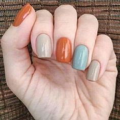 fall nail colors,best fall colors for nails,nail art fall nails trend Nail art for fall 2019 is all about the intersection of subtlety and excess. with your nails. Pretty Nail Colors, Fall Nail Colors, Nail Polish Colors, Grey Colors, Pastel Colors, Gel Polish, Fall Nail Art Designs, Hair Designs, Nail Decorations