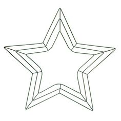Star+Shaped+Wreath+Form:+18+inch+Green+Wire+Frame