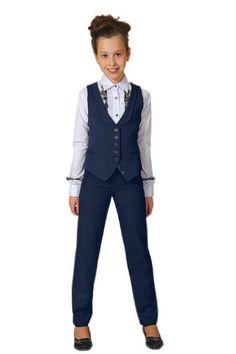 Школьные брюки синие для девочки