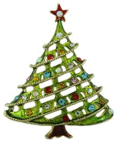 XP132-Light Green Christmas Tree Pin