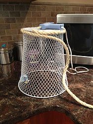 dollar store waste basket makeover, bathroom ideas, crafts, repurposing upcycling, Dollar Store wire waste basket Give your home storage a new look with these 5 budget friendly hacks for your dollar store bins. Beach Bathrooms, Bathroom Kids, Bathroom Mirrors, Small Bathrooms, Bathroom Faucets, Pirate Bathroom Decor, Pirate Bedroom, Mermaid Bathroom Decor, Shiplap Bathroom