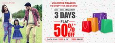 Flat 50% Off On Clothes & Get Shop For Rs.2000 & Get Rs.2000 Free