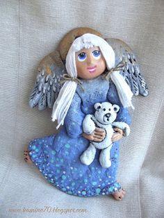 Biżuteria artystyczna i inne poczynania...: Anioł z misiem.