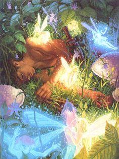 Asleep amidst the faerie/ Greg Hildebrandt