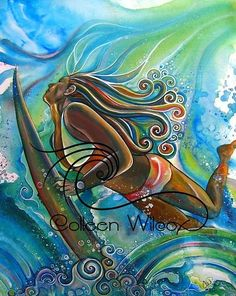 Painting by Surf Artist Colleen Malia Wilcox Art And Illustration, Graffiti, Posca Art, Hawaiian Art, Surfboard Art, Tropical Art, Tropical Flowers, Surf Art, Ocean Art
