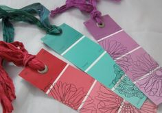 Paint Chip Craft Ideas - Love these Ideas for something so simple <3