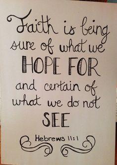 Hebrews 11:1 sign on Etsy, $6.00