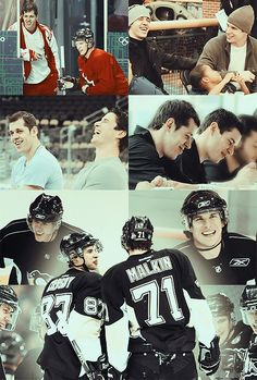 "Crosby and Malkin, every time I set a photo set like this the Harry Nilsson song ""Best Friend"" automatically pops in my head...same thing for Kane and Toews."
