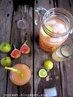 Fig Lemonade, fig lemon drink