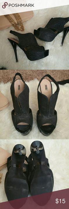 CLOSET CLEAR OUT! Black Platform Heels Black Platform Heels. In great condition. Shoes Platforms
