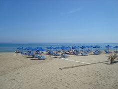 Long sandy beach of Rethymno