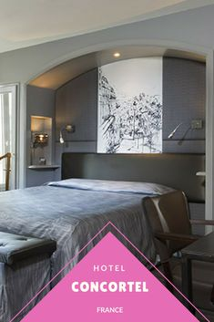 In Paris, l'Hôtel Concortel 3 stars welcomes you to stay in its spacious and comfortable bedrooms and suites. Ideally situated in the heart of Paris, arrondissement. Paris Paris, Paris Hotels, Cheap Hotels, Room Decor, France, History, Bedroom, Places, Furniture