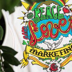 Peace, Love and Marketing -painatus