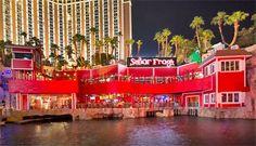 Señor Frog's Las Vegas overlooks Sirens' Cove at Treasure Island Hotel & Casino.