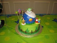 This cake was inspired by Toy Story.   A Toy Story Party!