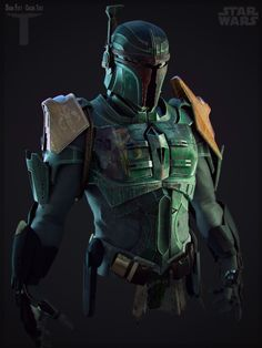 Boba Fett, Vinicius Favero on ArtStation at https://www.artstation.com/artwork/vDl1x