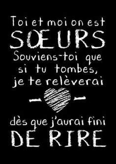 Ma soeur c est exactement ca 😂😂 Bff, Love Quotes, Funny Quotes, Daily Quotes, French Quotes, Positive Attitude, Funny Texts, Proverbs, Quotations