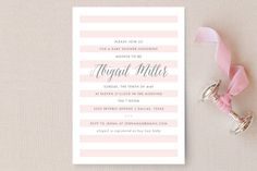 Sleek Baby Shower Invitations by Lauren Chism at minted.com
