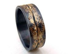 viking wedding band mens molten wedding ring gold silver