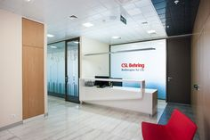 CSL Behring office by Meandre. Reception zone.