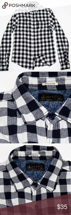 SCOTCH &SODA BUTTON UP SHIRT Gray Blue check SCOTCH &SODA BUTTON UP SHIRT Gray Blue check size Medium Scotch & Soda Shirts Casual Button Down Shirts