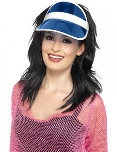 Perfect outfit for neon themed birthday parties, Butlins Reloaded events,hen dos and festivals. 1980s Fancy Dress, Ladies Fancy Dress, 1980s Dresses, Sun Visor Hat, Visor Hats, 80s Workout Clothes, Retro Party, White Headband, Camping Outfits