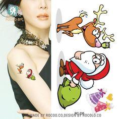 Waterproof Temporary Tattoo Santa Claus Christmas deer tattoos 10.5*6 cm tatto stickers flash tatoo fake tattoos for kids girl #Affiliate