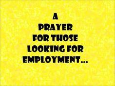 Prayer for those seeking employment