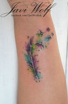 Sparrow Feather Tattoo Designs tobiastattoo.com #feather #tattoos