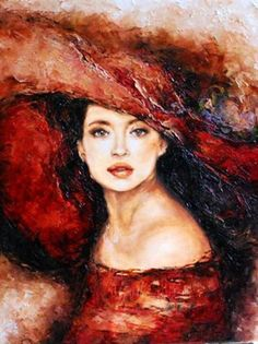 Peinture Tajemniczy kapelusz - L