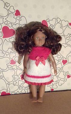 MinI American Girl Our Generation Lori dolls Valentine dress