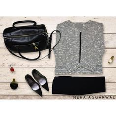 #LookYouBestIn  1. Cream Casual Blazer 2. Black Skinny Trousers 3. Pointed Toe Heels 4. Black Duffle Bag  5. Minimal Make-up  #blazer #skinnypants #zara #veromoda #aldo #dufflebag #pointedtoe #heels #black #corporate #colorbar #white #office