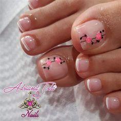 Pink Toe Nails, Bee Nails, Pretty Toe Nails, Cute Toe Nails, Summer Toe Nails, Pink Toes, Cute Toes, Pretty Toes, Toe Nail Art