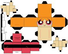 blossom by on DeviantArt Cardboard Toys, Paper Toys, Cool Paper Crafts, Diy Crafts, Spongebob Crafts, Mini Craft, Harry Potter Diy, 3d Paper, Candyland