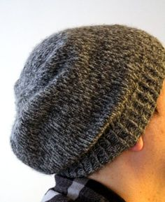 73e4a93c350 Easy Slouchy Unisex Beanie. Knit Slouchy Hat PatternMens ...