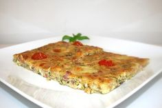 Zuchini Quiche, Zucchini Pizzas, Pizza Snacks, Breakfast Pizza, Lchf, Low Carb, Food And Drink, Vegetarian, Vegetables