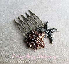 Beach Wedding hair accessories  Starfish by PrettyBabyMillinery, $22.00