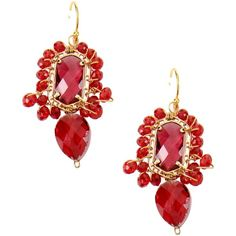 Taolei Earrings ($44) ❤ liked on Polyvore featuring jewelry, earrings, red, red jewelry and red earrings