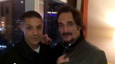 theo rossi and kim coates | Chicago Motorcycle Show January 17h – 19th 2014 St Charles IL